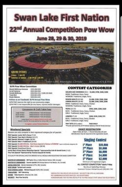 22nd Annual Swan Lake First Nation Competition Powwow 2019