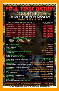 Paul First Nation Competition Powwow 2019
