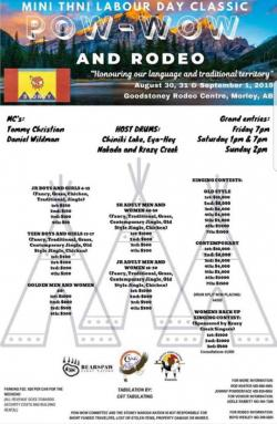 Mini Thni Labour Day Classic Powwow and Rodeo 2019