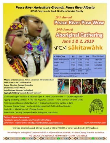 16th Annual Peace River Powwow & 24th Annual Aboriginal Gathering