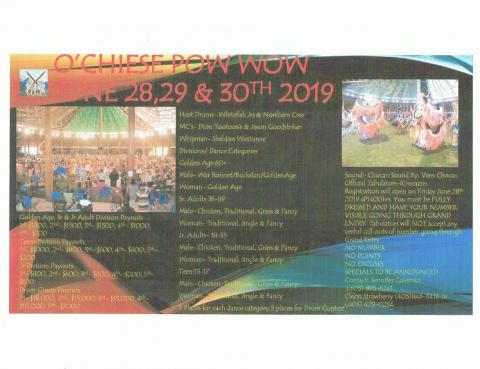 O'Chiese Powwow 2019 - CANCELLED
