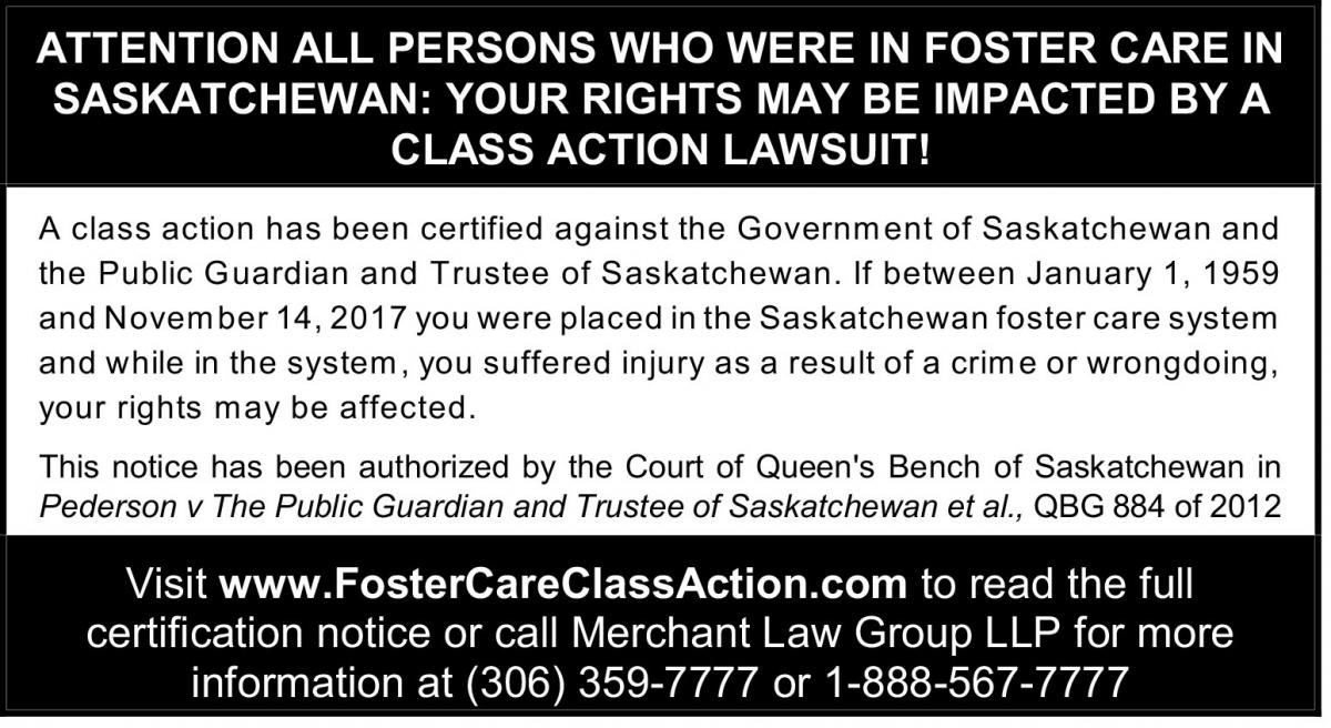 Foster Care Class Action NOTICE
